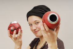 Woman With Calabash On Head Royalty Free Stock Photo