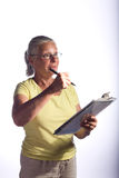 Woman With Clipboard Stock Photos