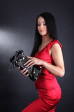 Woman With Clutch Bag Royalty Free Stock Images
