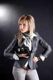 Woman With Clutch Bag Stock Image