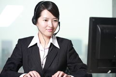 Free Woman With Computer Stock Photo - 14067530