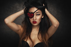 Free Woman With Eye Patch Stock Photo - 65883580