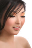 Woman With Eyes Closed Royalty Free Stock Photography