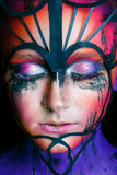 Woman With Fantasy Make Up Stock Images
