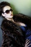 Woman With Fashion Sunglasses And Handbag Stock Photos