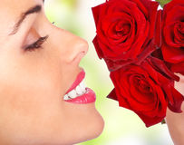 Free Woman With Flowers Royalty Free Stock Photos - 4073178