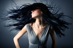 Free Woman With Fluttering Hair Royalty Free Stock Photography - 8319127