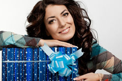 Free Woman With Gift Box Royalty Free Stock Images - 29560429