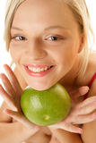 Woman With Grapefruit Royalty Free Stock Photo