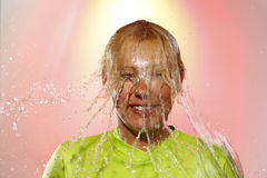 Woman With Green Shirt Stock Photography