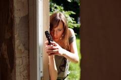 Woman With Gun Stock Photos