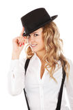 Woman With Hat Stock Image