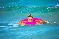 Free Woman With Inner Tube Royalty Free Stock Images - 14854979