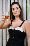 Woman With Juice. Royalty Free Stock Photography