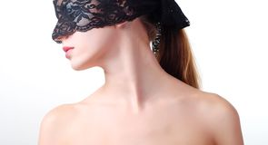Woman With Lace Royalty Free Stock Images