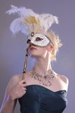 Woman With Mask Stock Image