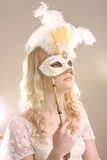 Woman With Mask Royalty Free Stock Photo