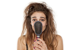 Free Woman With Messy Hair Stock Photography - 91375952
