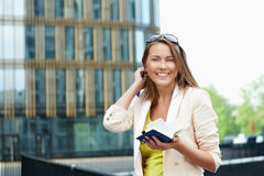 Woman With Notepad Stock Photo