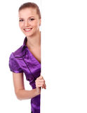 Woman With Placard Royalty Free Stock Photography