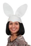 Woman With Rabbit Ears Stock Photos