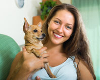Free Woman With Russian Toy In Arms Stock Photography - 46482722