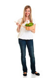 Woman With Salad Royalty Free Stock Photography