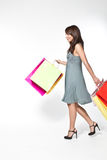Woman With Shoppingbag Royalty Free Stock Images