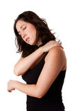 Woman With Shoulder Neck Pain Stock Photos