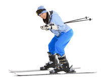 Free Woman With Ski Over White Background Stock Images - 23690444