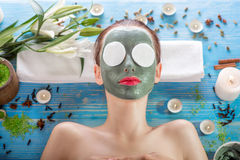 Free Woman With Spa Mask Stock Image - 47731341