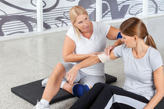 Free Woman With Sports Injury Gets First Royalty Free Stock Photos - 24155898