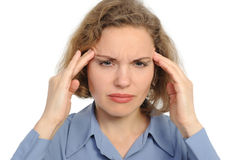 Woman With Strong Headache Stock Photography