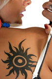 Woman With Tattoo Royalty Free Stock Image