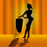 Woman With Timpani Royalty Free Stock Photography