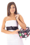 Woman With Travel Bag Stock Images