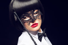 Free Woman With Whip And Mask Royalty Free Stock Photos - 70740358