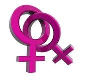 Woman-woman Symbols Stock Photography
