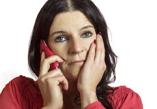 Woman woman talking on the mobile phone. Royalty Free Stock Images