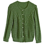 Woman wool green jacket, traditional German Tracht style Stock Photo
