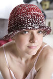 woman in woolen hat Stock Photography