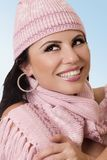 Woman in woollen hat Stock Photography