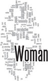 Woman word cloud Royalty Free Stock Photography