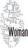 Woman word cloud vector illustration