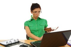 Woman in work stock image