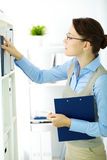 Woman at work Stock Photo