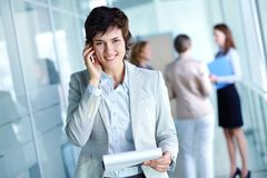 Woman at work Royalty Free Stock Images