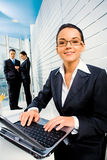 Woman at work Royalty Free Stock Image