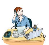 Woman at work stock illustration