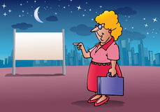 Woman work late Royalty Free Stock Photo